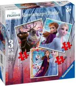 Puzzle Ravensburger 3v1  25, 36 a 49 dílků   Frozen II  030330