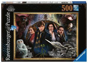 puzzle Ravensburger  500 dílků -  Fantastická zvířata  148202