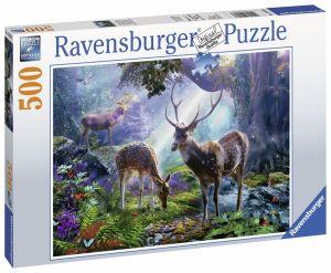 puzzle Ravensburger  500 dílků -  Jeleni v lese 148288
