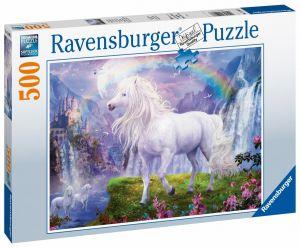 puzzle Ravensburger  500 dílků - Kůň a duha  150076