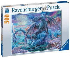 puzzle Ravensburger  500 dílků -  Mystický drak  148394