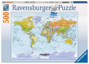 puzzle Ravensburger  500 dílků - Politická mapa   -  147557
