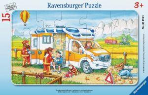 Puzzle Ravensburger  deskové  15 dílků - Sanitka  061709