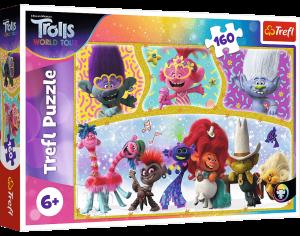 Puzzle Trefl 160 dílků -  Trolové - veselý svět  15396