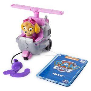 Spin Master Paw Patrol Malá vozidla s figurkou -  Skye vrtulník s hákem