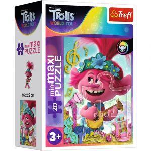 TREFL 20 dílků mini-MAXI - Trolové ve světě hudby  21092