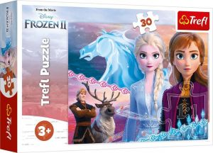 Trefl puzzle  30 dílků  - Frozen II - sestry 18253