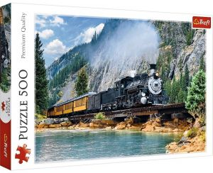 TREFL Puzzle  500 dílků -  Vlak 37379