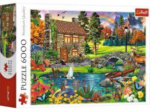 TREFL Puzzle   6000 dílků - Chata v horách    65006