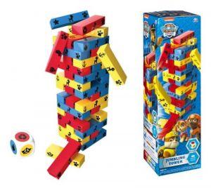 Věž Jenga -  velká dřevěná barevná věž - Paw Patrol