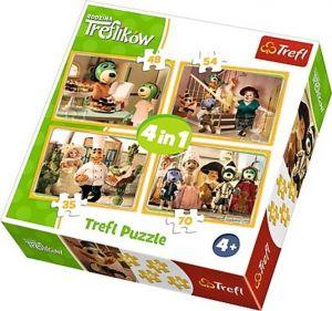 35, 48, 54 a 70  dílků - 4 v 1 -  Rodina Treflíků   -  puzzle   Trefl 34318