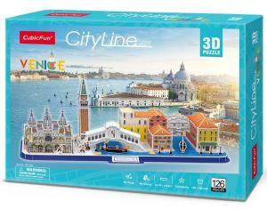 3D puzzle CubicFun CityLine - Benátky   126 dílků