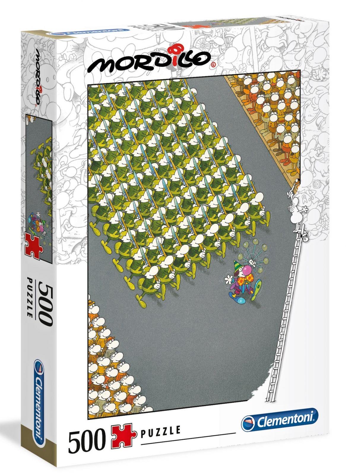 Clementoni puzzle 500 dílků Mordillo - Pochod 35078