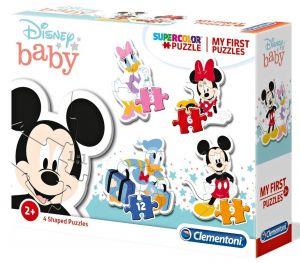 Clementoni Puzzle pro nejmenší - My first  4v1  - Mickey Mouse  20819
