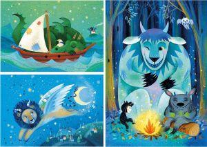 Dětské puzzle Clementoni  - 3 x 48 dílků  - Fantastic  Freinds  - 25245