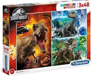 Dětské puzzle Clementoni  - 3 x 48 dílků  - Jurassic World  25250