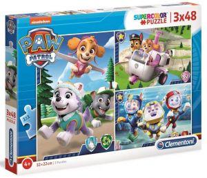 Dětské puzzle Clementoni  - 3 x 48 dílků  - Paw Patrol  25260