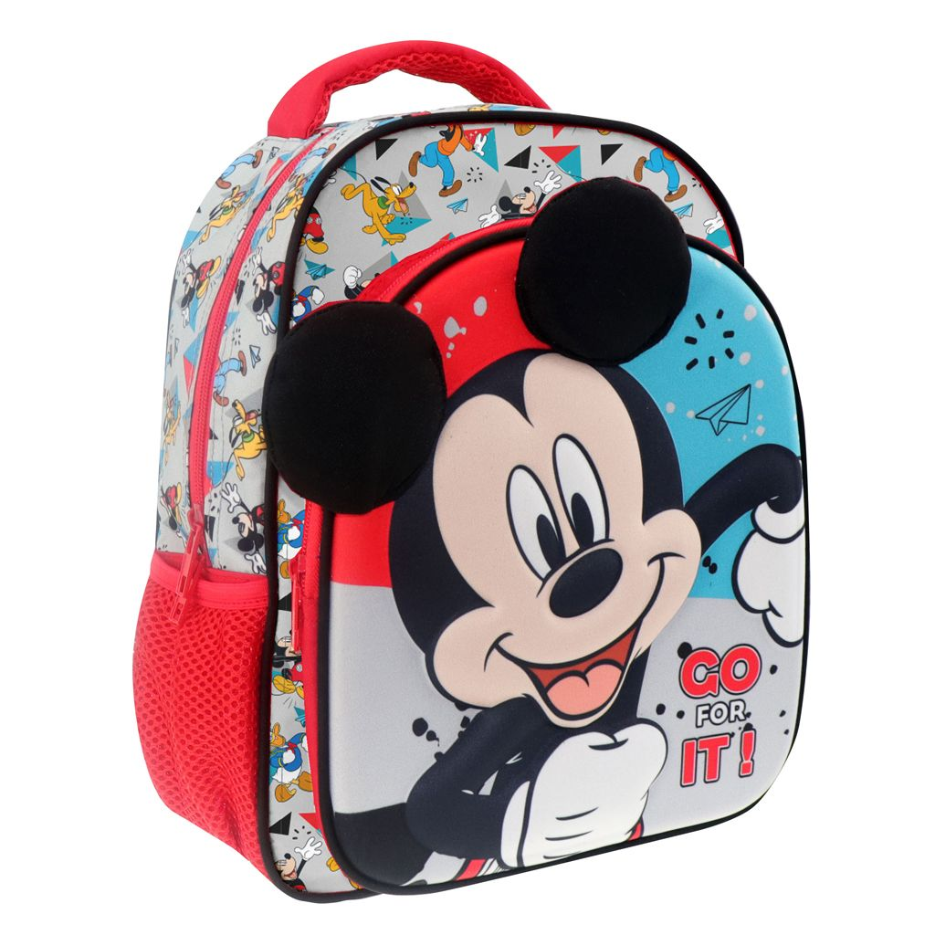 Diakakis - batoh na záda 27 x 31 x 10 Mickey s 3D povrchem Mickey