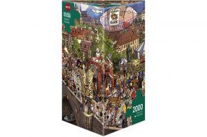 Heye - puzzle 2000 dílků - Bláznivý průvod Prahou 29926