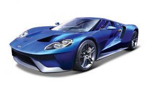 Maisto 1:18 Exclusive  -  Ford GT 2017 - modrá barva