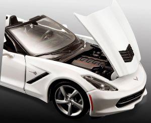 Maisto 1:24 Kit Chevrolet Corvette - nílá barva