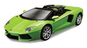 Maisto  1:24 Kit Lamborghini Aventador - model  ke skládání  - zelená  barva