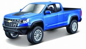 Maisto  1:27 Kit Chevrolet Colorado  ZR2 - model  ke skládání  - modrá  barva