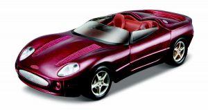 Maisto 21001 auto Jaguar XK 180 Cabrio - vínová barva