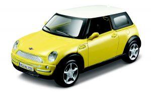 Maisto 21001 auto Mini Cooper - žlutá barva