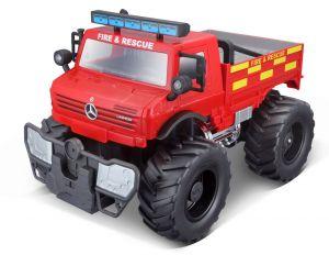 Maisto R/C  - Mercedes Benz  U500 Unimog - červený 27 MHz