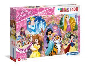 Podlahové puzzle Clementoni 40  dílků MEGA  - Disney princezny   25463