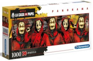 Puzzle Clementoni 1000 dílků panorama -  Netfix - Papírový dům  39545