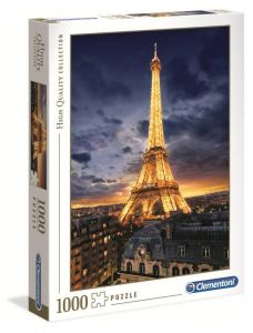 Puzzle Clementoni 1000 dílků  - svítící  Eiffelova  věž   39514