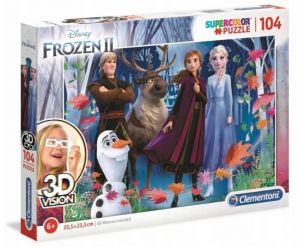 Puzzle Clementoni 104 dílků  3D - Frozen II 20611