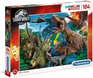 Puzzle Clementoni  - 104 dílků  Disney - Jurassic World 27196