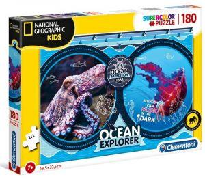 Puzzle Clementoni 180 dílků  -  National Geographic - Expedice v oceánu  29205
