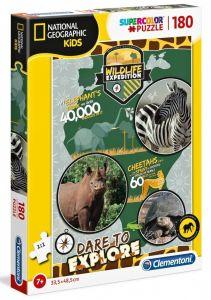 Puzzle Clementoni 180 dílků  -  National Geographic - Kids Divočina  29207