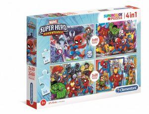 Puzzle Clementoni 2 x 20  a  2 x 60 dílků  Superhrdinové   24709
