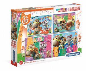 Puzzle Clementoni  - 20, 60, 100 a 180 dílků  - 44 koček   21407