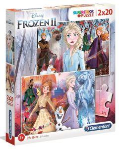 Puzzle Clementoni  2x20 dílků  - Frozen II    2v1   24759