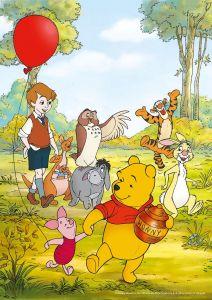 Puzzle Clementoni  2x20 dílků  -  Medvídek Pů  24772