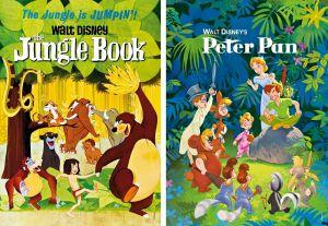 Puzzle Clementoni  2x20 dílků  -  Petr Pan a Kniha džunglí  24774