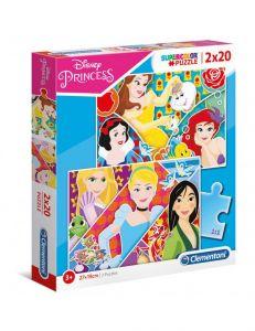 Puzzle Clementoni  2x20 dílků  - Princezny   24766