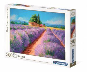 Puzzle Clementoni 500 dílků  - Vůně levandule   35073