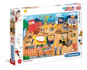 Puzzle Clementoni  60 dílků  Lidé na stavbě  26990