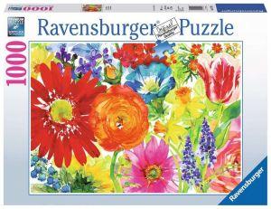 puzzle Ravensburger 1000 dílků - Bohaté květy  197293