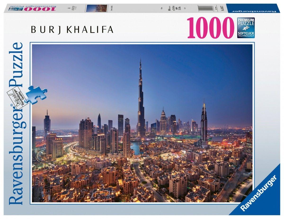 puzzle Ravensburger 1000 dílků - Burj Khalifa a centrum Dubaje 164677