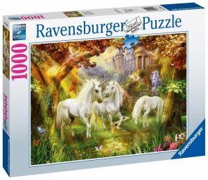 puzzle Ravensburger 1000 dílků - Jednorožci v podzmní auře  159925