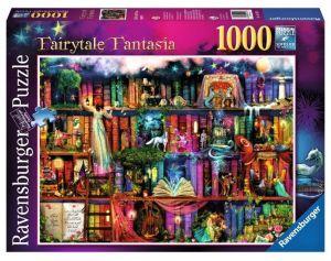 puzzle Ravensburger 1000 dílků - Magická knihovna  194179