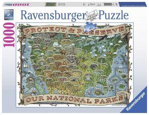 Puzzle Ravensburger 1000 dílků - Národní parky v  USA  198597